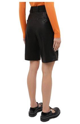 Женские кожаные шорты HELMUT LANG черного цвета, арт. K04HW204 | Фото 5