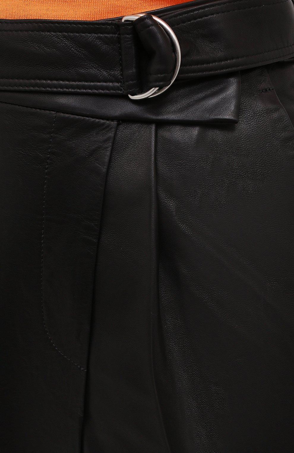 Женские кожаные шорты HELMUT LANG черного цвета, арт. K04HW204 | Фото 6