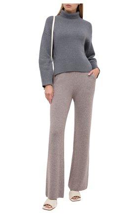 Женский кашемировый пуловер LORO PIANA серого цвета, арт. FAI7129 | Фото 2