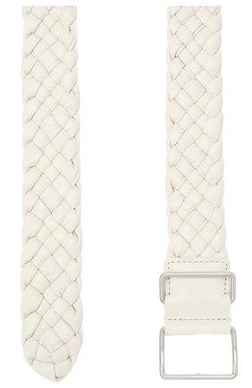 Женский кожаный ремень BOTTEGA VENETA белого цвета, арт. 639288/VCQ71 | Фото 2 (Материал: Кожа)