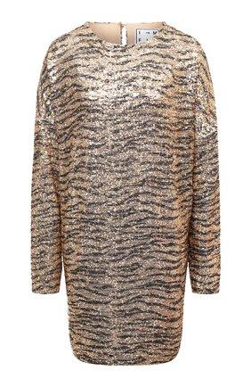 Женское платье с пайетками IN THE MOOD FOR LOVE золотого цвета, арт. ALEXANDRA ZEBRA DRESS | Фото 1