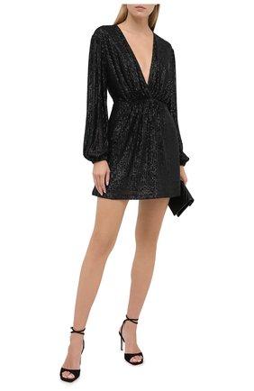 Женское платье с пайетками IN THE MOOD FOR LOVE черного цвета, арт. NEW Y0UNG DRESS | Фото 2