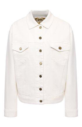 Женская джинсовая куртка MICHAEL MICHAEL KORS белого цвета, арт. MU01EZKBUG   Фото 1