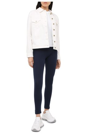 Женская джинсовая куртка MICHAEL MICHAEL KORS белого цвета, арт. MU01EZKBUG   Фото 2
