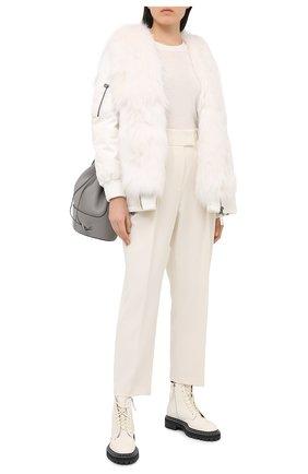 Женский пуловер MICHAEL MICHAEL KORS белого цвета, арт. MU06PAYCHN   Фото 2
