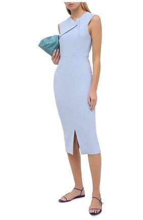 Женское платье ROLAND MOURET голубого цвета, арт. PW20/S0920/F2196   Фото 2
