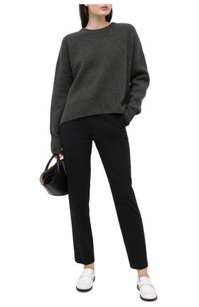 Женский кашемировый свитер LE KASHA хаки цвета, арт. EVREUX0 | Фото 2