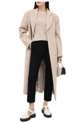 Женские брюки из вискозы и хлопка JOSEPH черного цвета, арт. JP000908   Фото 2