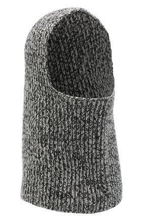 Женского кашемировая шапка-балаклава JOSEPH черно-белого цвета, арт. JF004841 | Фото 1