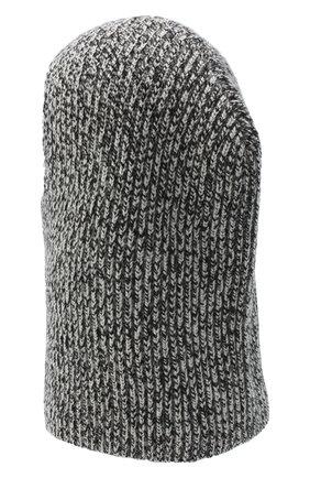 Женского кашемировая шапка-балаклава JOSEPH черно-белого цвета, арт. JF004841 | Фото 2