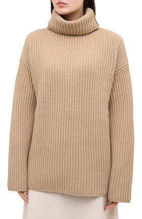 Женский шерстяной свитер JOSEPH бежевого цвета, арт. JF004801 | Фото 3