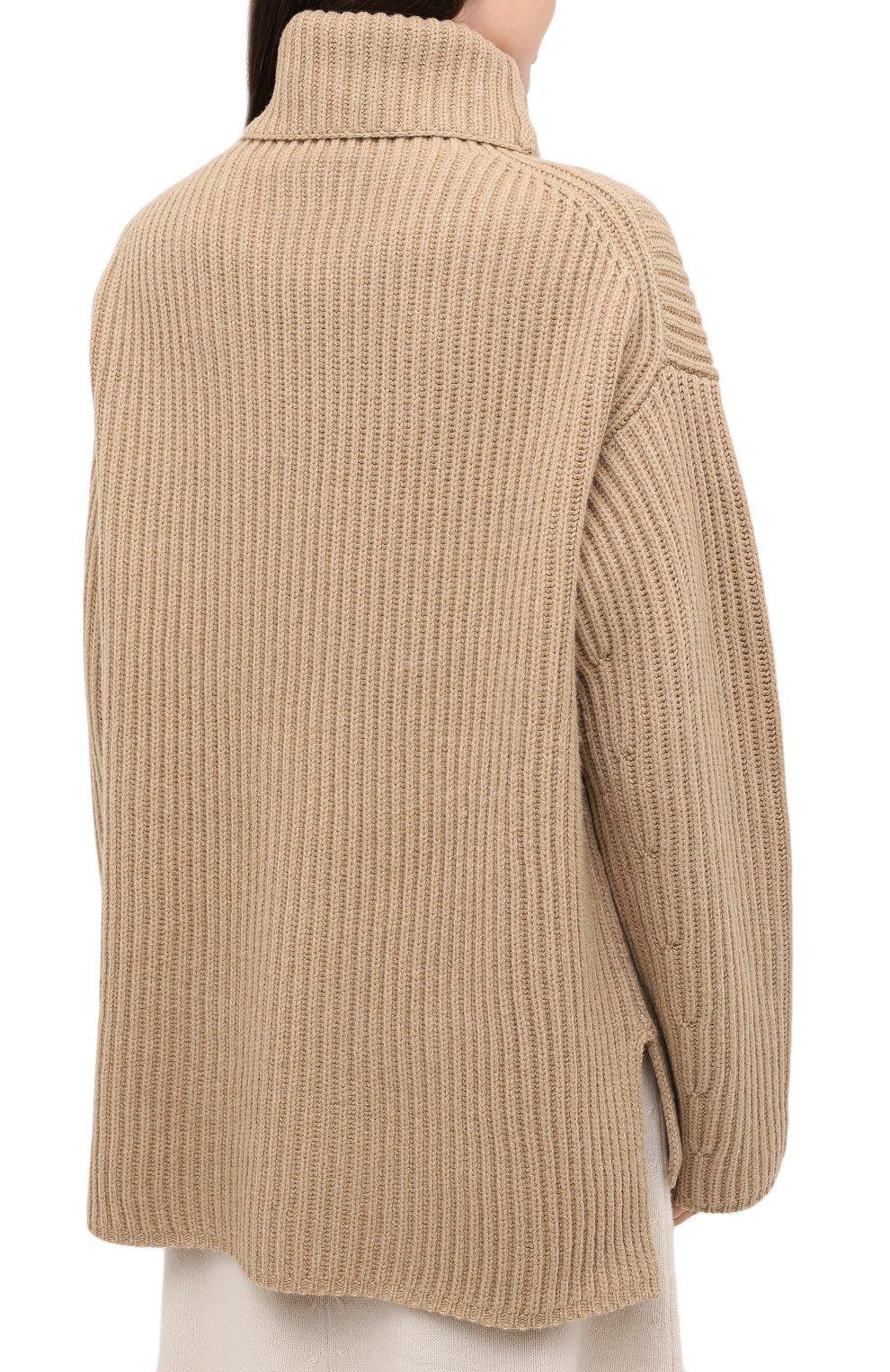 Женский шерстяной свитер JOSEPH бежевого цвета, арт. JF004801 | Фото 4