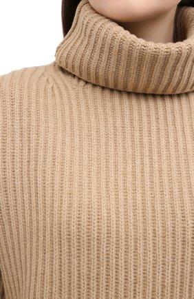 Женский шерстяной свитер JOSEPH бежевого цвета, арт. JF004801 | Фото 5
