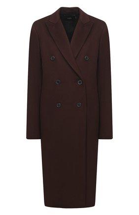 Женское шерстяное пальто JOSEPH коричневого цвета, арт. JP000998   Фото 1