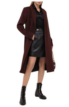 Женское шерстяное пальто JOSEPH коричневого цвета, арт. JP000998   Фото 2
