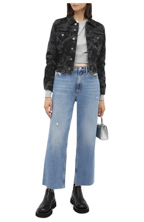 Женская джинсовая куртка BALENCIAGA черного цвета, арт. 625992/TEW35 | Фото 2