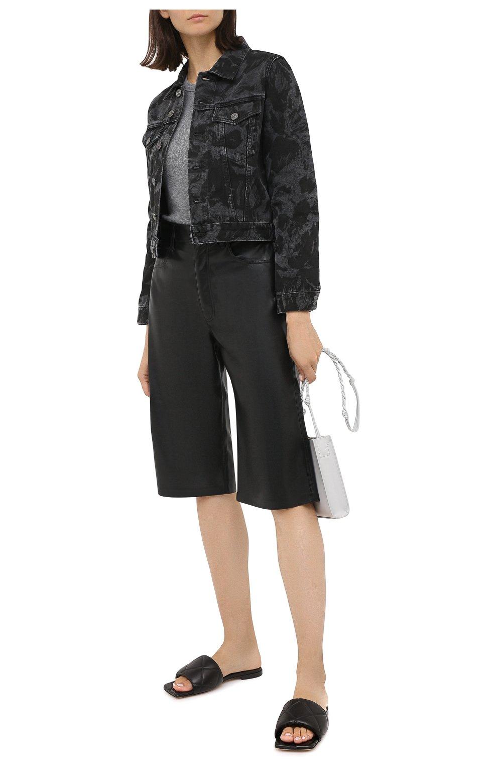 Женская джинсовая куртка BALENCIAGA черного цвета, арт. 625992/TEW35 | Фото 3