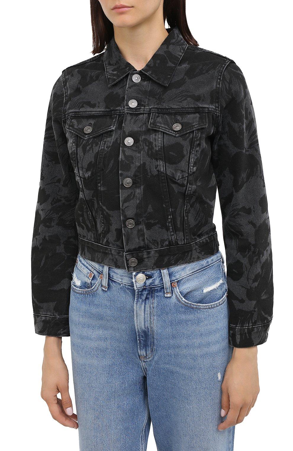 Женская джинсовая куртка BALENCIAGA черного цвета, арт. 625992/TEW35 | Фото 4