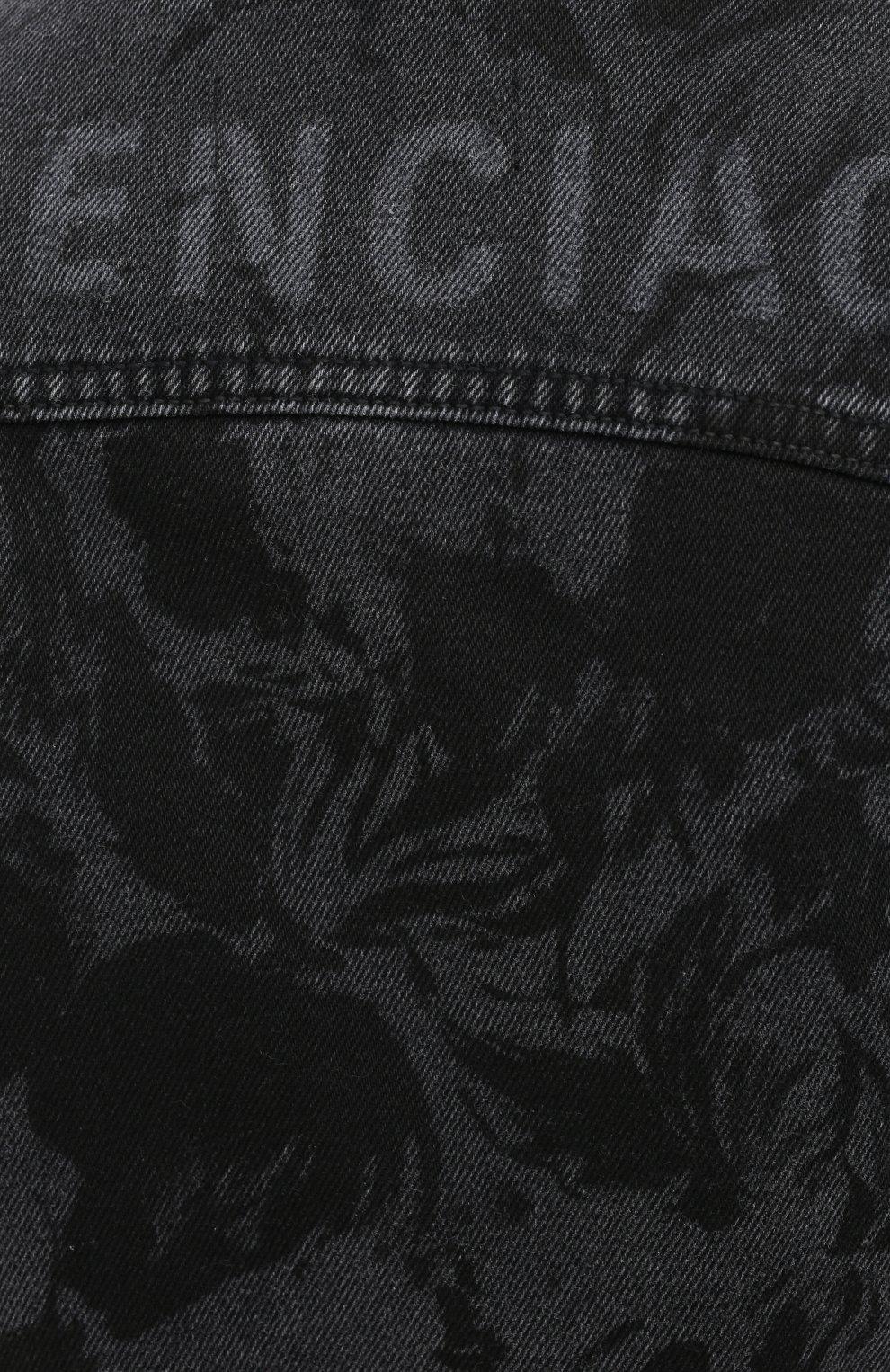 Женская джинсовая куртка BALENCIAGA черного цвета, арт. 625992/TEW35 | Фото 6