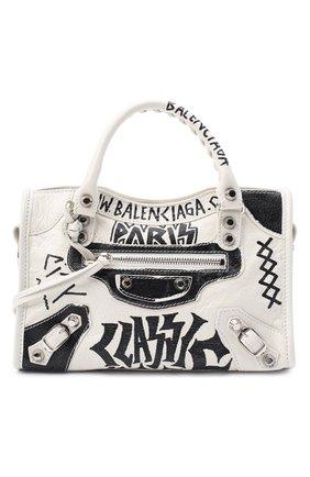 Женская сумка arena mini BALENCIAGA черно-белого цвета, арт. 300295/0FE0N | Фото 1