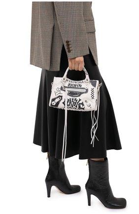 Женская сумка arena mini BALENCIAGA черно-белого цвета, арт. 300295/0FE0N | Фото 2