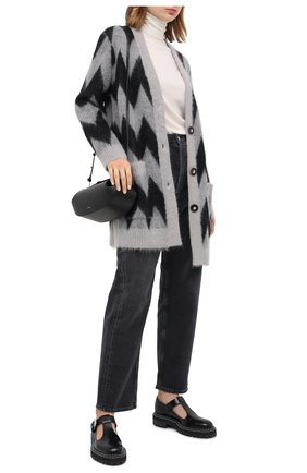 Женский шерстяной кардиган GIORGIO ARMANI серого цвета, арт. 6HAE02/AM27Z | Фото 2