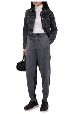 Женские комбинированные кроссовки DOLCE & GABBANA черного цвета, арт. CK1805/AW178   Фото 2