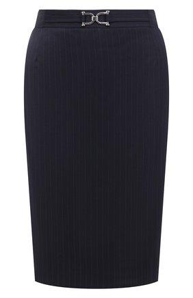 Женская юбка BOSS темно-синего цвета, арт. 50440016 | Фото 1