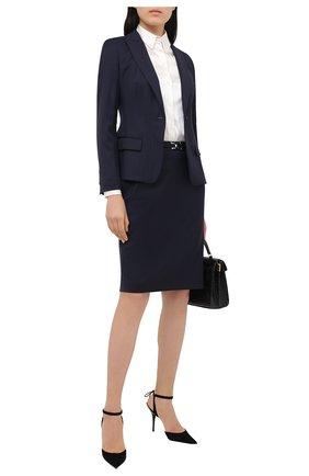Женская юбка BOSS темно-синего цвета, арт. 50440016 | Фото 2