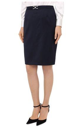 Женская юбка BOSS темно-синего цвета, арт. 50440016 | Фото 3