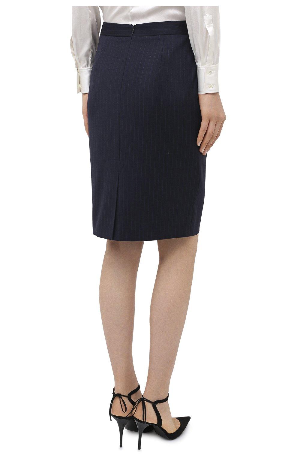 Женская юбка BOSS темно-синего цвета, арт. 50440016 | Фото 4