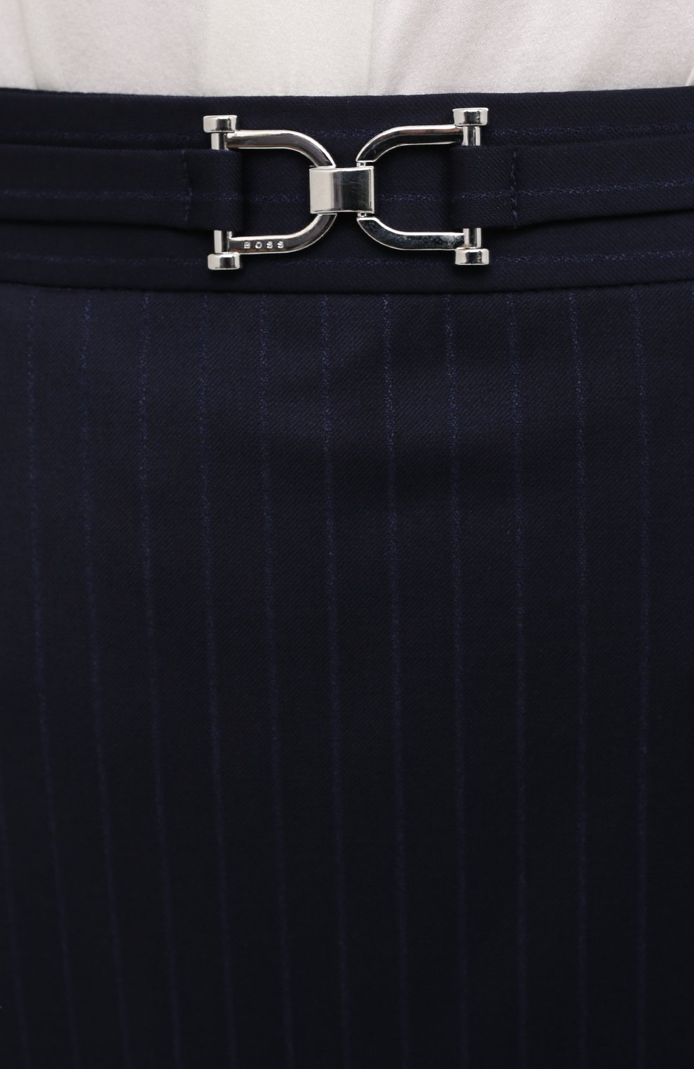 Женская юбка BOSS темно-синего цвета, арт. 50440016 | Фото 5