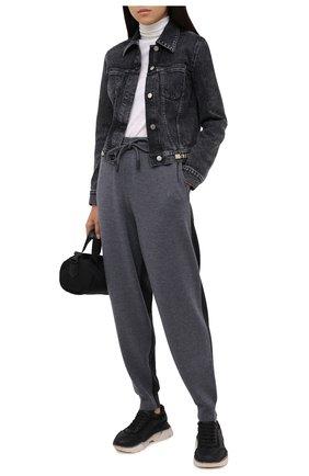 Женские шерстяные джоггеры BURBERRY серого цвета, арт. 8032196 | Фото 2