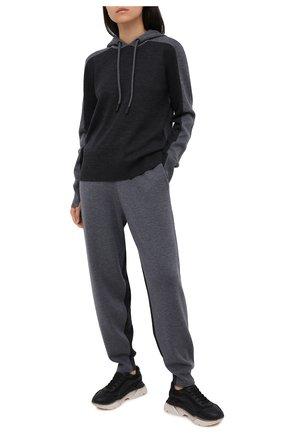 Женские шерстяные джоггеры BURBERRY серого цвета, арт. 8032196 | Фото 3