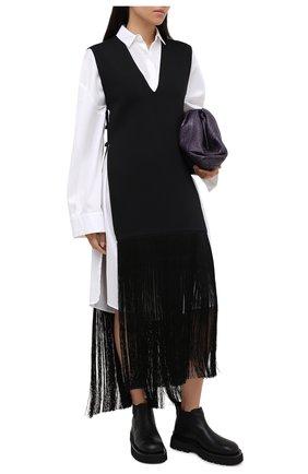 Женский жилет из вискозы BURBERRY черного цвета, арт. 8032624 | Фото 2