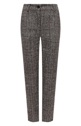 Женские шерстяные брюки DOLCE & GABBANA коричневого цвета, арт. FTAMUT/FQMIB | Фото 1