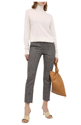 Женские шерстяные брюки DOLCE & GABBANA коричневого цвета, арт. FTAMUT/FQMIB | Фото 2