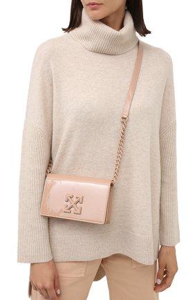 Женская сумка 0.5 jitney OFF-WHITE светло-бежевого цвета, арт. 0WNA104E20LEA0033100   Фото 2