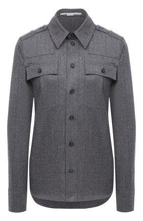 Женская рубашка из шерсти и хлопка STELLA MCCARTNEY серого цвета, арт. 602108/SNB53   Фото 1