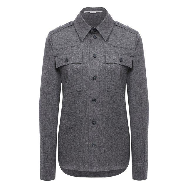 Рубашка из шерсти и хлопка Stella McCartney