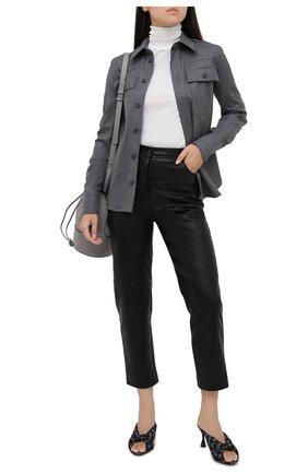 Женская рубашка из шерсти и хлопка STELLA MCCARTNEY серого цвета, арт. 602108/SNB53   Фото 2