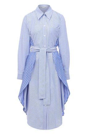 Женское хлопковое платье STELLA MCCARTNEY голубого цвета, арт. 601667/SPA23 | Фото 1