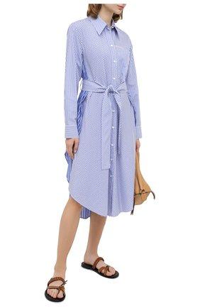 Женское хлопковое платье STELLA MCCARTNEY голубого цвета, арт. 601667/SPA23 | Фото 2