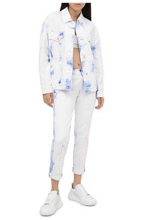 Женская джинсовая куртка STELLA MCCARTNEY белого цвета, арт. 601802/S0H09 | Фото 2