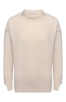 Женский пуловер из кашемира и шерсти STELLA MCCARTNEY кремвого цвета, арт. 601634/S2205 | Фото 1