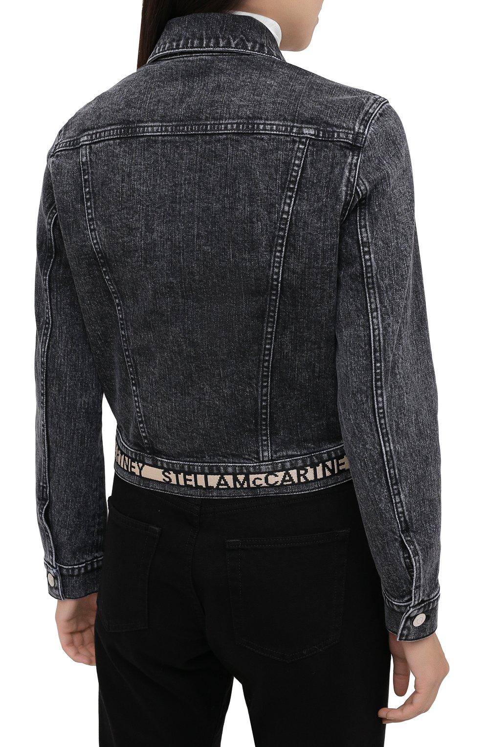 Женская джинсовая куртка STELLA MCCARTNEY серого цвета, арт. 600260/S0H05   Фото 4