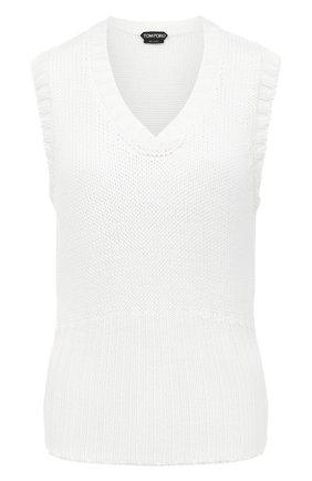 Женский шерстяной жилет TOM FORD белого цвета, арт. TSK260-YAX279 | Фото 1