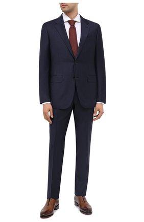 Мужской шерстяной костюм ERMENEGILDO ZEGNA темно-синего цвета, арт. 822535/221225 | Фото 1
