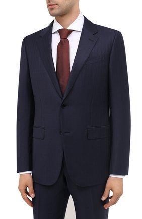 Мужской шерстяной костюм ERMENEGILDO ZEGNA темно-синего цвета, арт. 822535/221225 | Фото 2