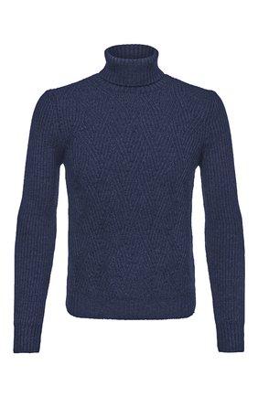 Мужской шерстяной свитер GRAN SASSO синего цвета, арт. 13124/14230 | Фото 1 (Длина (для топов): Стандартные; Материал внешний: Шерсть; Рукава: Длинные; Принт: Без принта; Стили: Кэжуэл)
